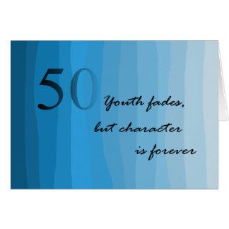 Cinquantième carte heureuse de bleus