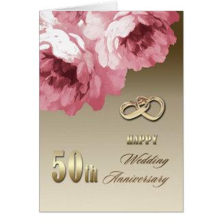 cinquantième Cartes de voeux d'anniversaire de