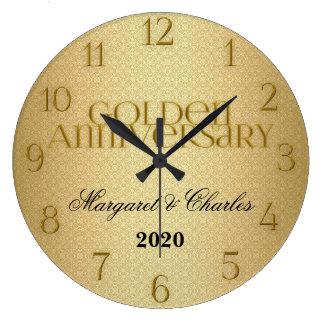 cinquantième Coutume d'Annivsersary de mariage d'o Grande Horloge Ronde