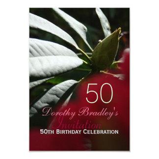 cinquantième Coutume de rhododendron de Carton D'invitation 8,89 Cm X 12,70 Cm