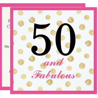 cinquantième et fabuleux invitation de fête