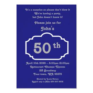cinquantième, homme d'anniversaire, homme de carton d'invitation  12,7 cm x 17,78 cm
