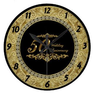 cinquantième Horloge d'anniversaire de mariage