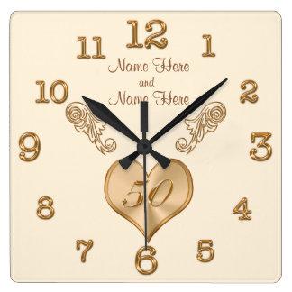 Cinquantième horloge élégante d'anniversaire de