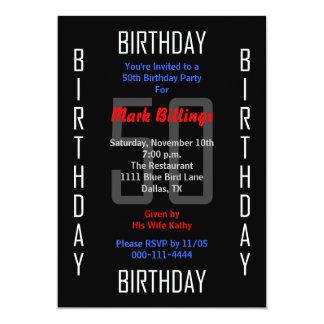 cinquantième Invitation 50 de fête d'anniversaire