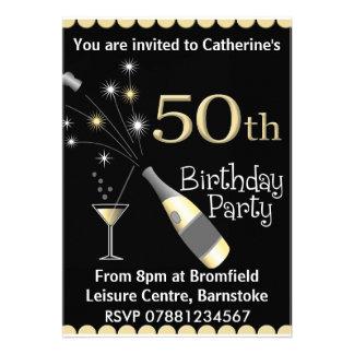cinquantième Invitation de fête d'anniversaire