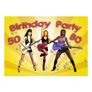 cinquantième Invitation de fête d'anniversaire ave