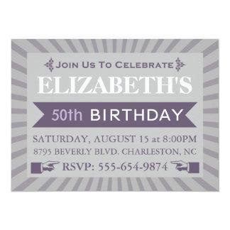 Cinquantième invitation de fête d'anniversaire de