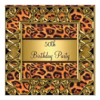 Cinquantième invitation de léopard de fête