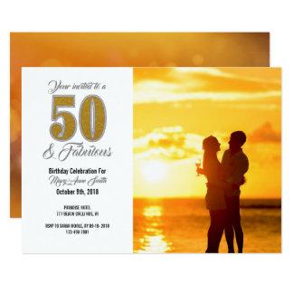 cinquantième Invitation d'or de célébration