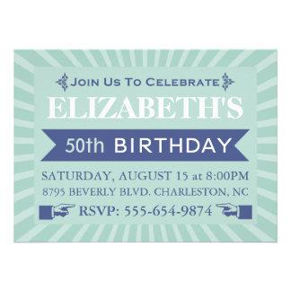Cinquantième invitations de fête d anniversaire de