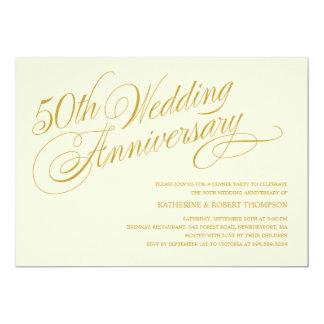 cinquantième Invitations de fête d'anniversaire