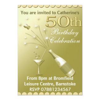 cinquantième Invitations de fête d'anniversaire -