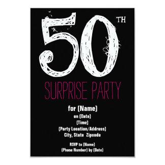 cinquantième Invitations de papier de fête