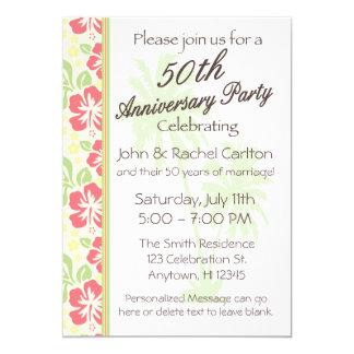Cinquantième invitations hawaïennes de fête