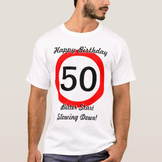 cinquantième Limitation de vitesse de panneau T-shirt