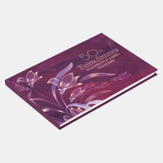 cinquantième Livre d'invité élégant de conception
