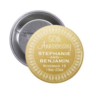 cinquantième Or personnalisé d'anniversaire de Badge