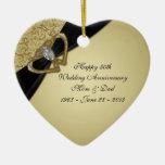 cinquantième Ornement d'anniversaire de mariage