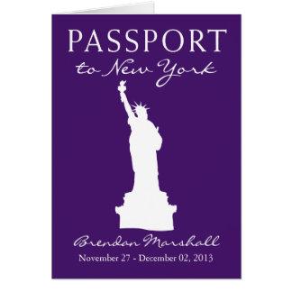 Cinquantième passeport d'anniversaire de New York Cartes De Vœux