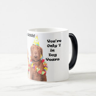 Cinquantième tasse drôle heureuse de chien