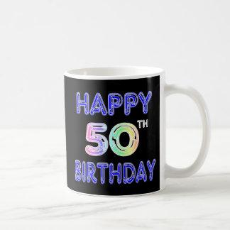 Cinquantième tasses heureuses de tasse et de
