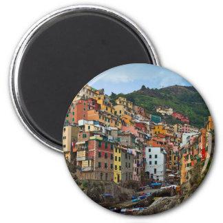 Cinque Terre - Riomaggiore Magnet Rond 8 Cm