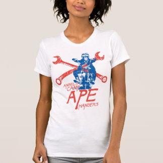 Cintres de singe de camp d'anges (cru) t-shirt