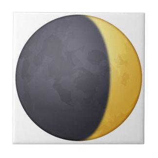 Cirant le croissant de lune - Emoji Carreau
