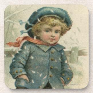Circa 1871 : Un jeune garçon patinant au-dessus de Sous-bock