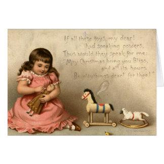 Circa 1873 : Une carte de voeux de Noël