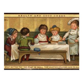 Circa 1880 : Un repas à Noël Carte Postale