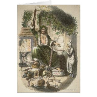 Circa 1900 : Le fantôme du cadeau de Noël Carte De Vœux