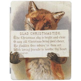 Circa 1900 : Un renard tient un vers de Noël Protection iPad