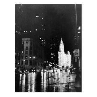 circa 1954 :  De vue une avenue du Michigan vers Cartes Postales