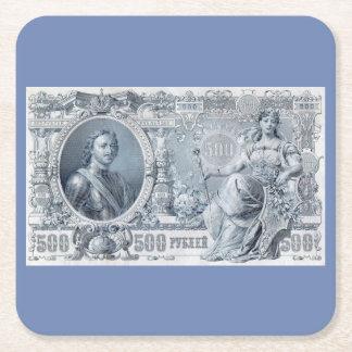 circa les 1912 Russie tsaristes facture de 500 Dessous-de-verre Carré En Papier