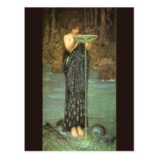 Circe Invidiosa - 1892 par John William Waterhouse Carte Postale
