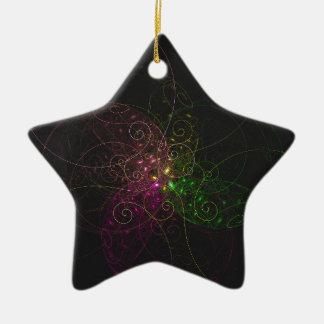 circonvolutions tricolores ornement étoile en céramique
