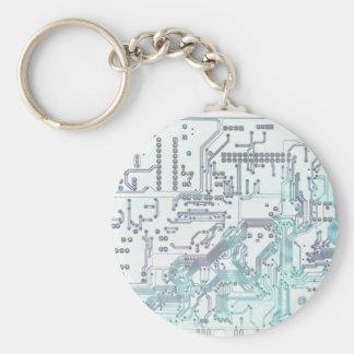 circuit électronique porte-clé rond