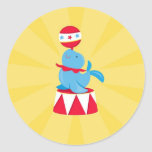 Cirque/autocollant partie de carnaval sticker rond
