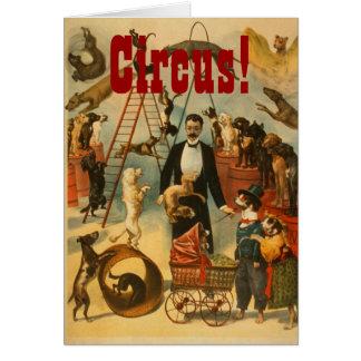 Cirque canin - carte de voeux #2