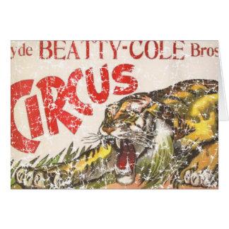 Cirque de Beatty Cole - 1903 - affligé Carte De Vœux