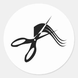 Ciseaux de coiffeur - coiffeur adhésif rond