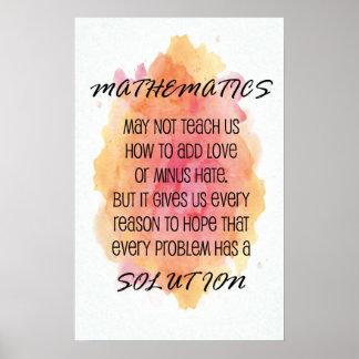 Citation - affiches de maths poster