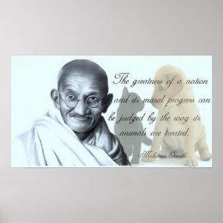 Citation animale de Gandhi Posters