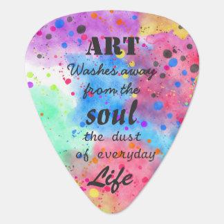 Citation célèbre de couleur pour aquarelle fraîche onglet de guitare