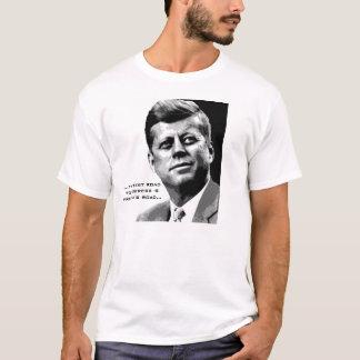 Citation célèbre de JFK d'affiche d'espoir de JFK T-shirt