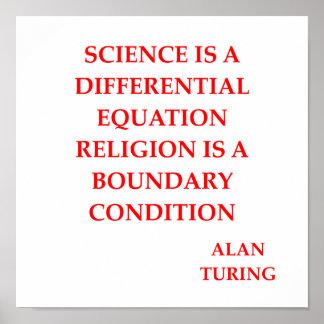 citation d Alan Turing Posters