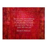 Citation d'abîme de Nietzsche Cartes Postales
