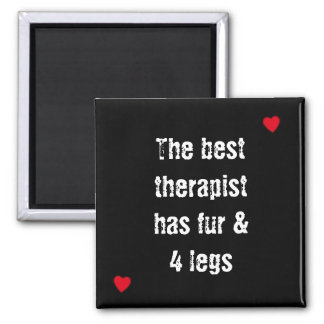 Citation d'animal familier le meilleur thérapeute aimant